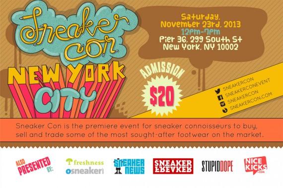 Sneaker Con NYC – Saturday, November 23rd, 2013