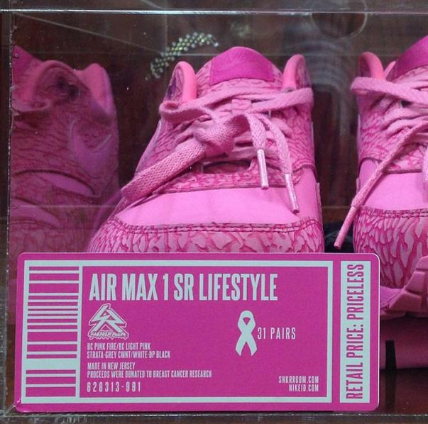 huge selection of f7192 02134 Sneakerroom x Nike Air Max 1 SR Lifestyle Breast Cancer Awareness