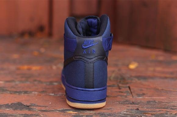 Nike Air Force 1 Alto De Color Azul Marino MYpYehm