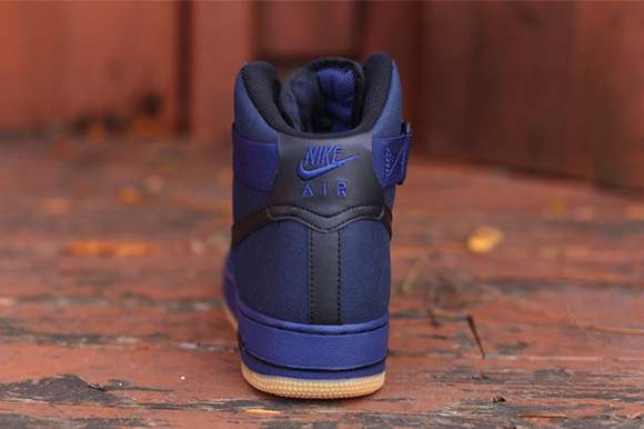 Nike Air Force 1 Alto De Color Azul Marino QG5vno