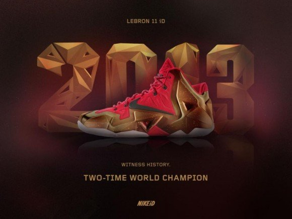 NIKEiD Concept LeBron 11 Two-Time World Champion