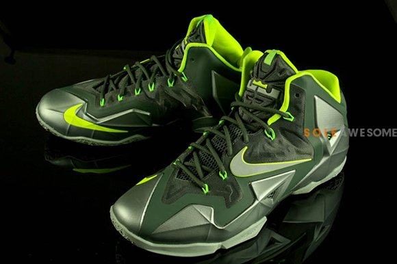 "san francisco 48610 caf9d ... MICA GREEN Release Reminder - Nike LeBron 11 As promised, a few days  after our latest report on the LBJ XI ""Dunkman ..."
