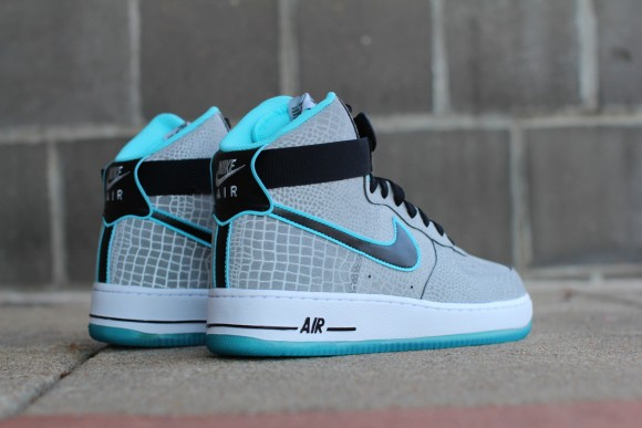 Nike Air Force 1 High Reflective Silver Croc Release Date