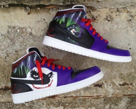 """Air Jordan 1 """"Joker"""" by DeJesus Customs"""