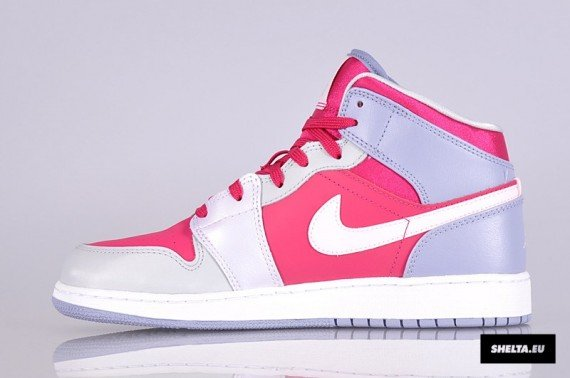 Air Jordan 1 Mid GS Hyper Fuchsia Arctic Pink Pebble Grey Now Available