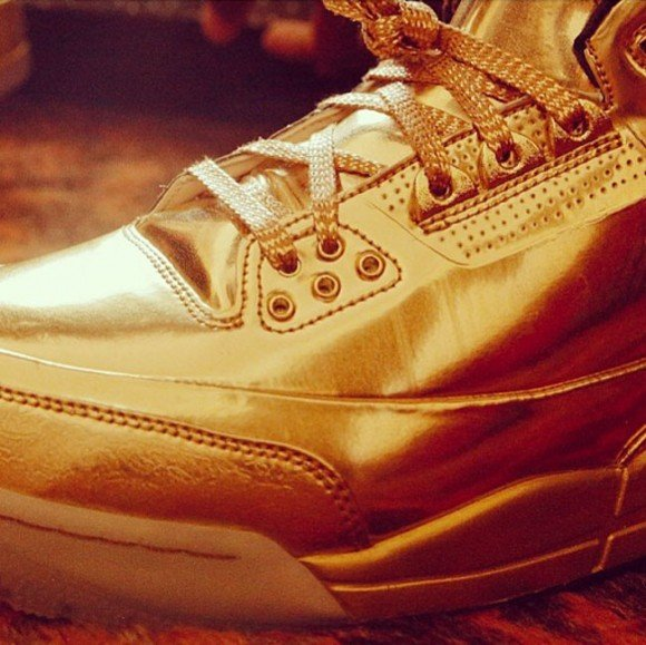 Usher's Gold Air Jordan 3