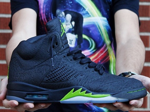 check out d4698 f569f Air Jordan 3Lab5 Altitude Green Customs by Doctor Soles