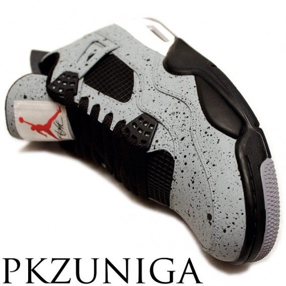 Air Jordan 4 Cement Flip Customs by PKZUNIGA