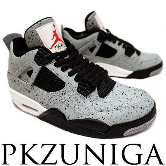 Air Jordan 4 Cement Flip Customs by PKZUNIGA