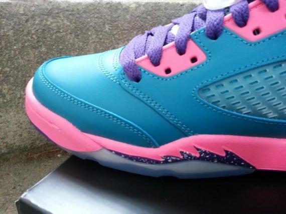 Air Jordan 5 GS Tropical Teal Club Pink Purple Yet Another Look