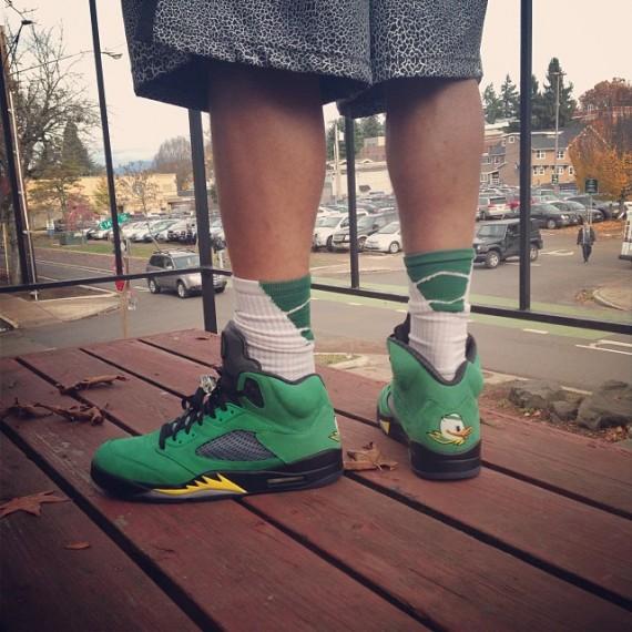 Air Jordan 5 Ducks On-Feet Photo