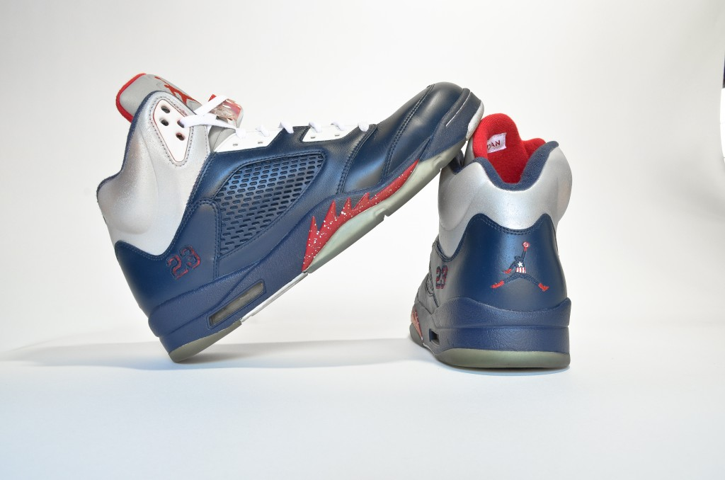 pretty nice 1c22c ed2f5 air-jordan-v-5-captain-america-custom