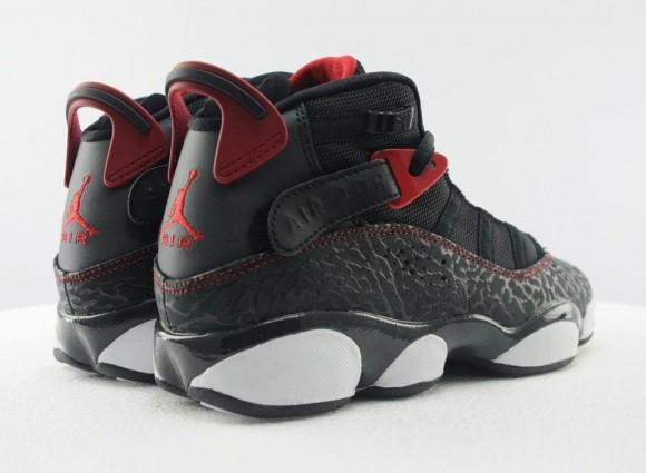 Jordan 6 Rings GS Elephant Black Gym Red