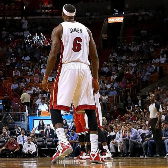 LeBron James Wears Nike LeBron 11 Home PE