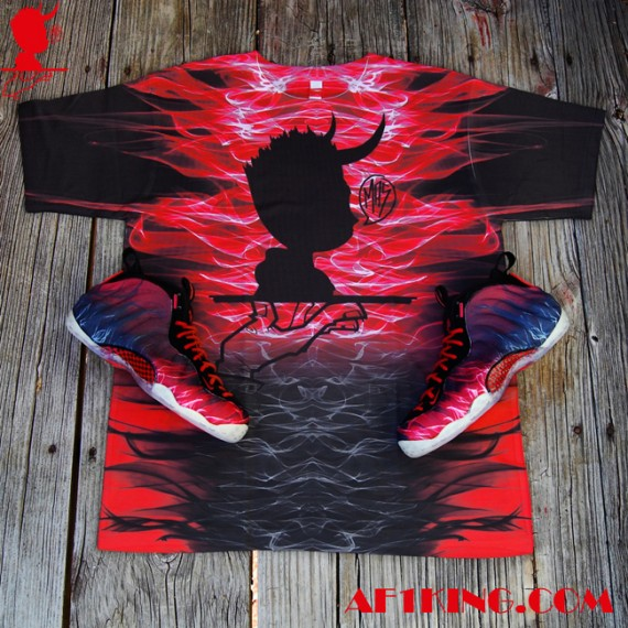 "514dd76f5a7 Nike Air Foamposite One ""Norman You Devil"" Customs by Gourmet Kickz ..."