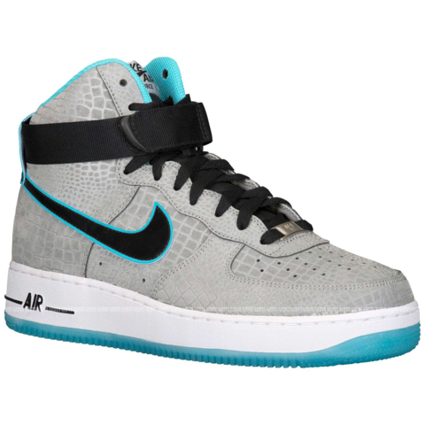 Nike Air Force 1 Hi Cmft Prm Reflect Silver Black Gamma Blue