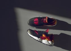 Nike Air Huarache LE 'Black/Laser Orange-Fuchsia' | size? Worldwide Exclusive