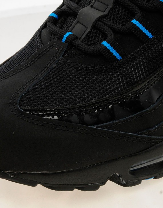 Nike Air Max 95 Black Patent Leather Photo Blue Now Available