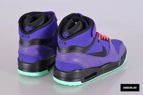 Nike Air Revolution Electric Purple Black Green Glow Atomic Red