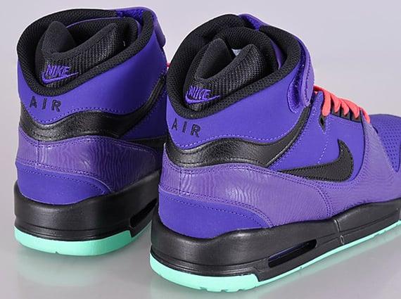 Nike Air Revolution Electric Purple Black Green Glow Atomic Red