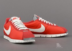 Nike Cortez NM QS 'Chilling Red/Sail-Gym Red-Metallic Silver'