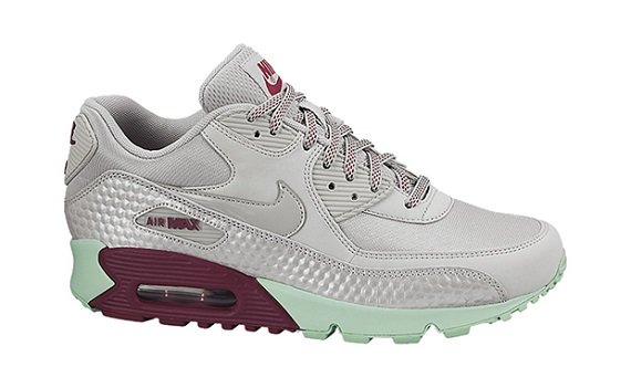 Nike WMNS Air Max 90 Dusty Grey Green Glow-Raspberry