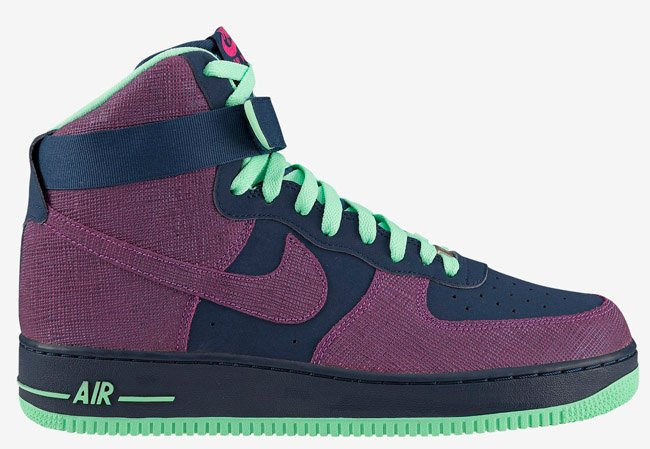 Release Reminder Nike Air Force 1 High Brave Blue Cherrywood Red