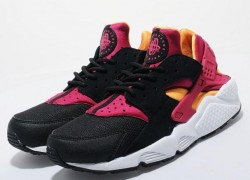 Release Reminder: Nike Air Huarache LE 'Black/Laser Orange-Fuchsia' | size? Worldwide Exclusive