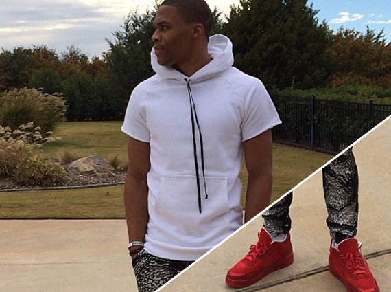 Russell Westbrook in Air Jordan 3 LOTS