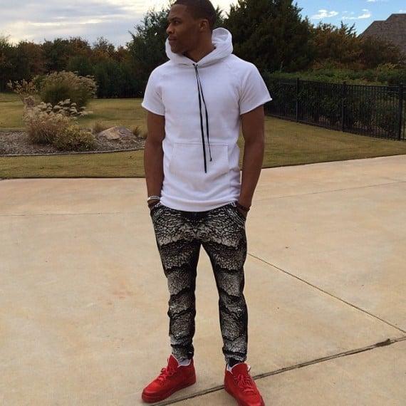Russell Westbrook in Air Jordan 3 LOTS