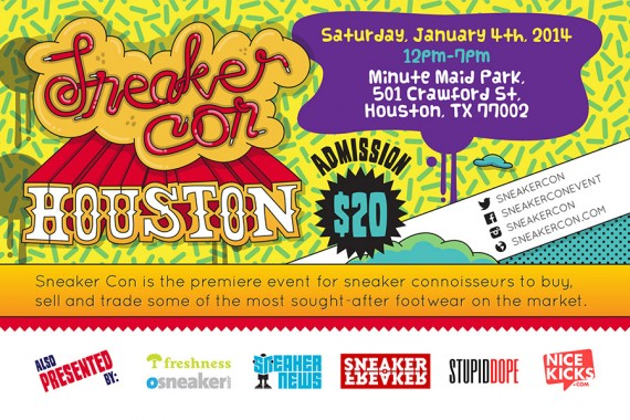Sneaker Con Houston Saturday January 4th 2014