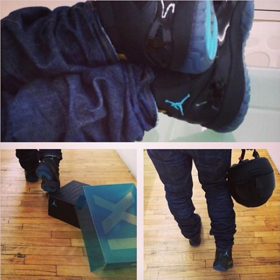 Usher Unboxes the Air Jordan 11 Gamma Blue