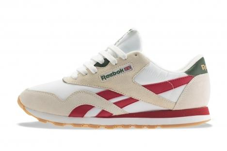 Reebok Classic Nylon R13 Red Green and Brass