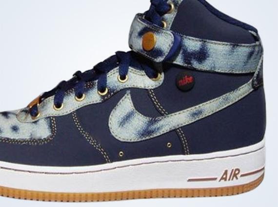 Nike Air Force 1 High Acid Wash Denim