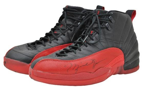 Game worn and Autographed Flu Game Air Jordan 12 Sells for $104,765