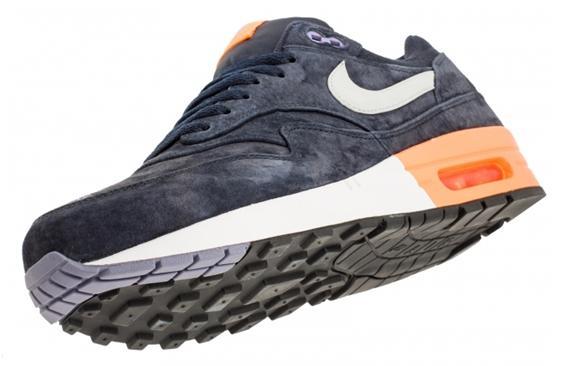 Nike Air Max 1 - Dark Obsidian and Atomic Orange