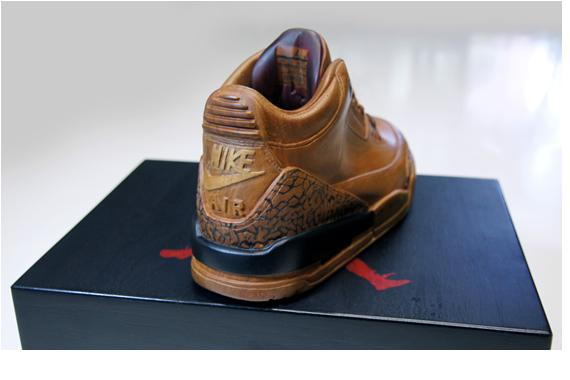 """Wood"" Air Jordan 3 by Arnold Zpadaz & Barrio Warrior"