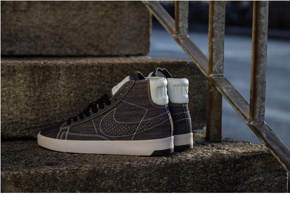 "Nike Blazer LUX ""Black Denim""  607204295"