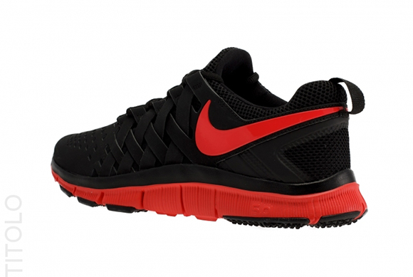 nike red and black trainers