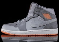 Air Jordan 1 Mid – Wolf Grey – Atomic Orange – Now Available