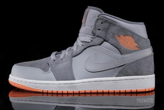 air jordan gray and orange