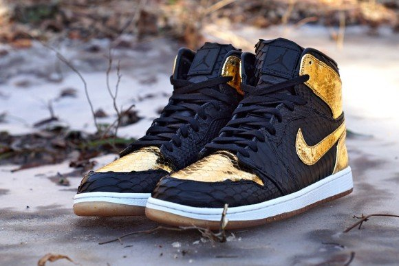 Air Jordan 1 NYE Python by JBF Customs for Marcus Jordan