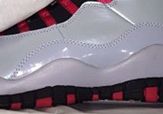 sports shoes d4a63 52b01 Air Jordan 10 GS White Patent Leather Black Red