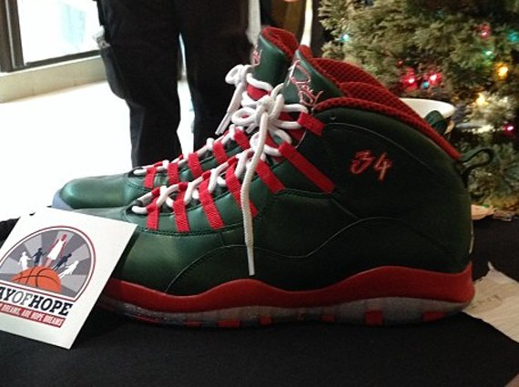 Air Jordan 10 Ray Allen Christmas PE