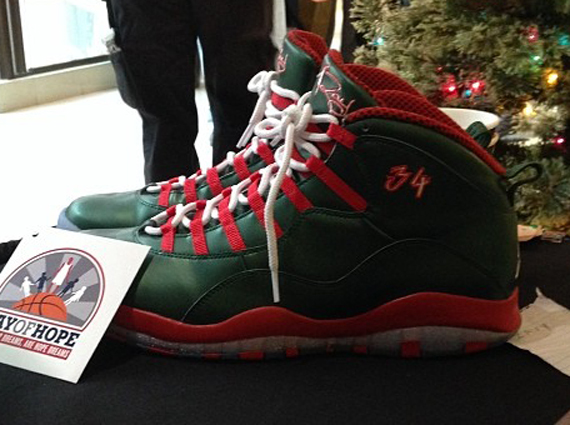 Air Jordan 10 Ray Allen Christmas PE