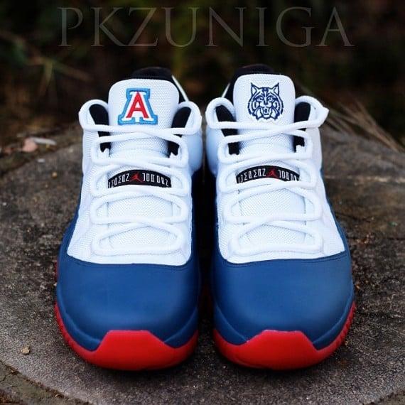 f494f6763470 60%OFF Air Jordan 11 Low   Arizona Wildcats   Customs by PKZUNIGA ...