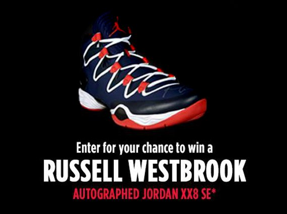 reputable site e0c97 3a4f9 Air Jordan XX8 SE Autographed by Russell Westbrook – Foot Locker 23 Days of  Flight Giveaway