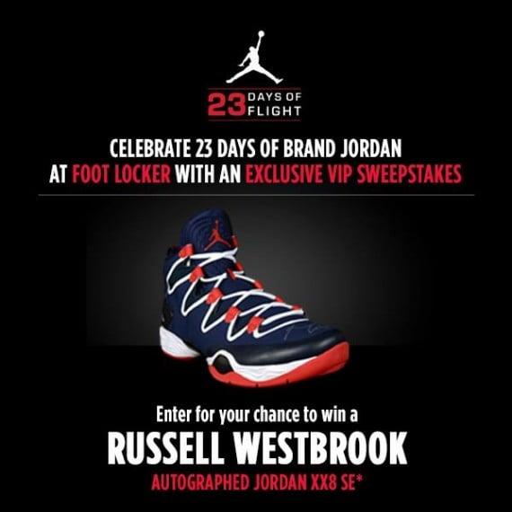 620308a0b5a2b8 Air Jordan XX8 SE Autographed by Russell Westbrook – Foot Locker 23 Days of  Flight Giveaway