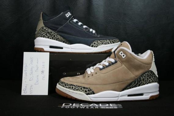 Air Jordan 3 Denim/Khaki Samples Available on eBay