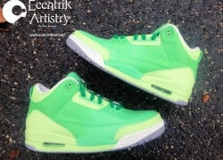 Air Jordan III (3) 'Emerald' Custom